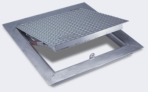 Floor Access Doors : Acudor fa aluminum angle frame floor door quot