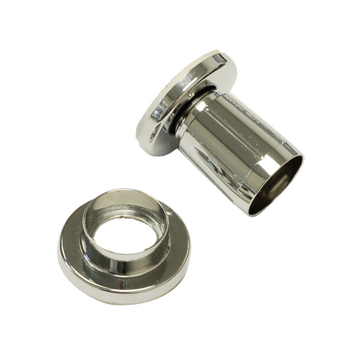 ... Products > BHP 006CH Chrome Plated Zinc Adjustable Shower Rod Flange