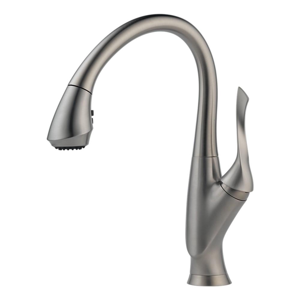 Brizo Kitchen Faucet : ... Faucets > Brizo 63052LF-SS Belo Single Hole Kitchen Faucet, Stainless