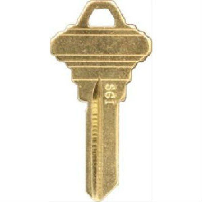 Clk Sc1 Br Key Blank Schlage 5 Pin C Thebuilderssupply Com