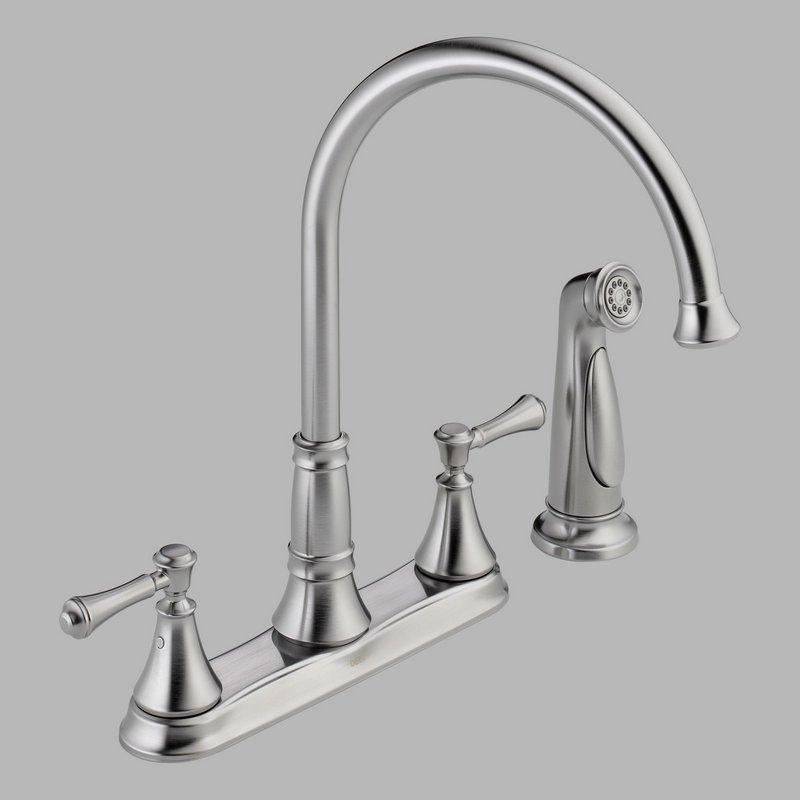 ... Faucets > Kitchen Faucets > Delta 2497LF-AR Two Handle Kitchen Faucet