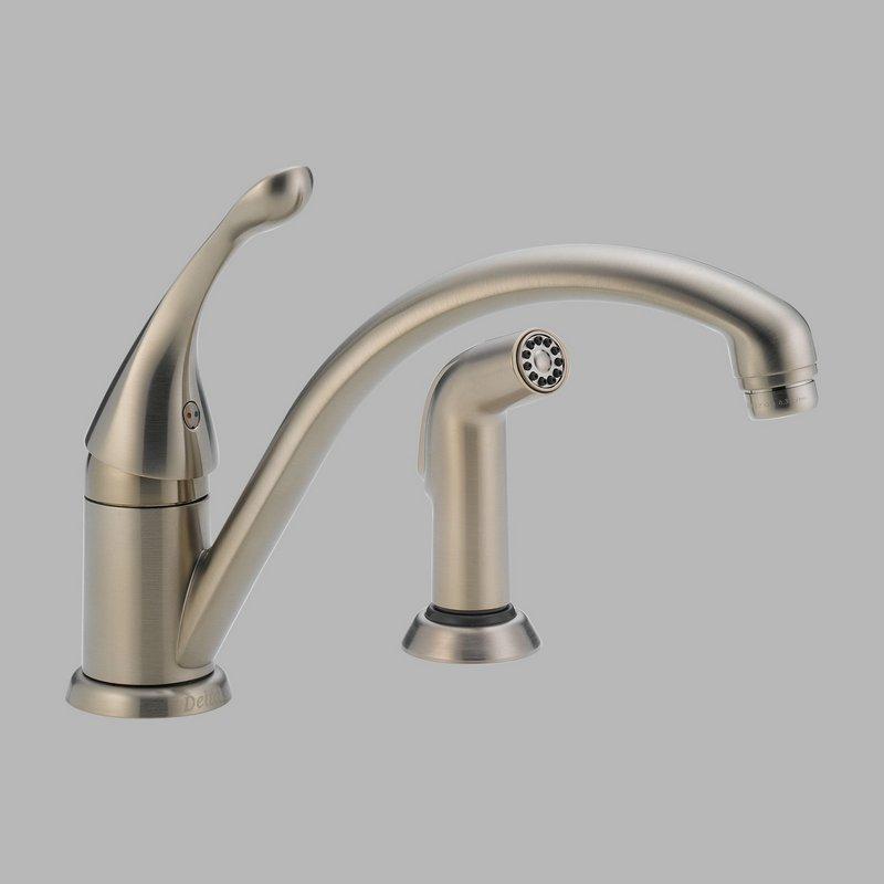 Delta Kitchen Faucet Repair : ... Faucets > Kitchen Faucets > Delta 441-SS-DST Kitchen Faucet with Spray