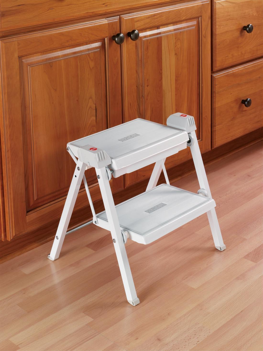 Hafele 505 04 704 Folding Step Stool White Gray