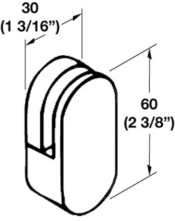 Hafele 988.32.130 Mirror Clip