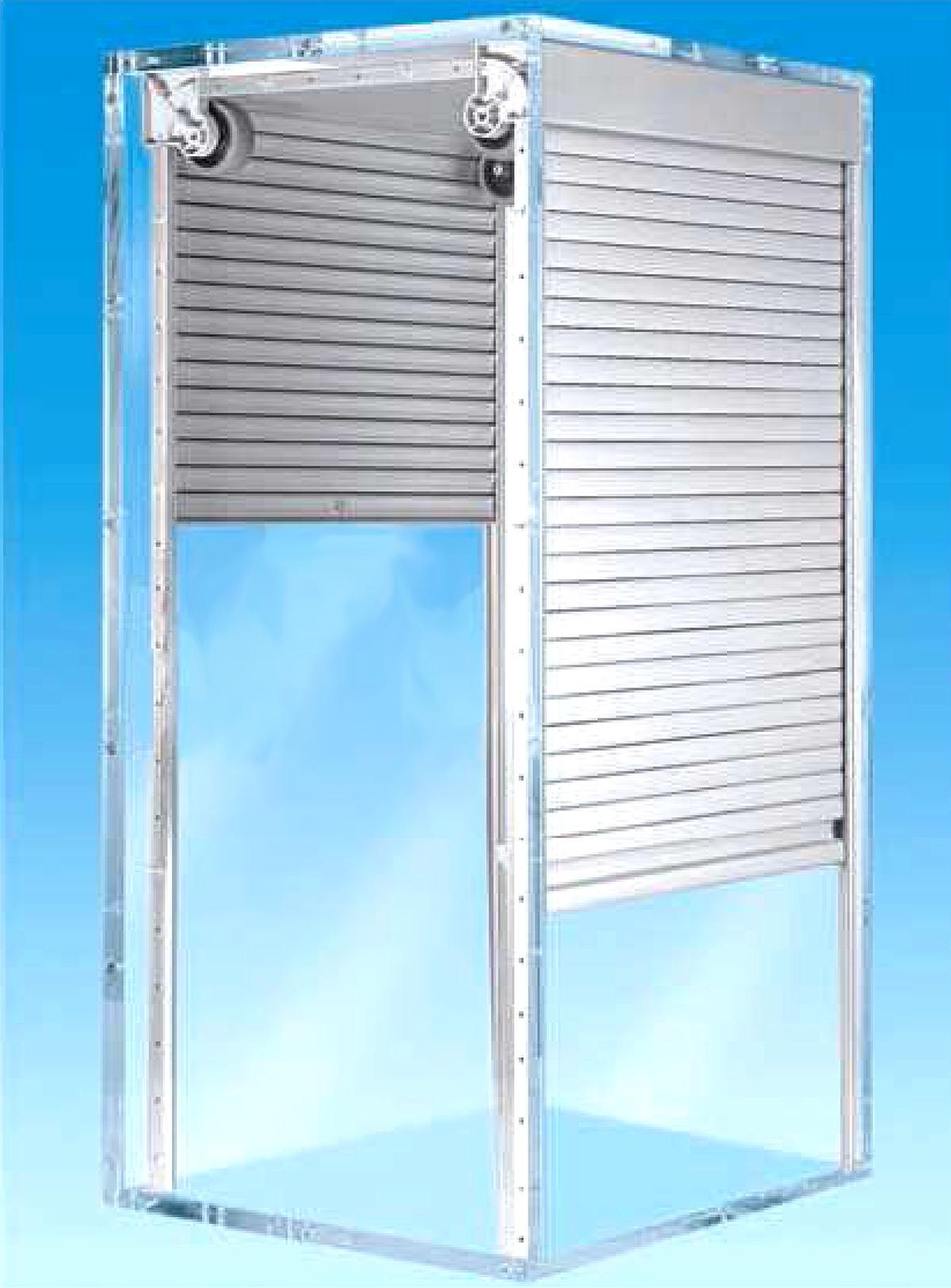 Hafele roller shutter appliance garage for Door accessories
