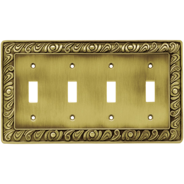 Brainerd 64043 paisley quad switch wall plate - Wall switch plates decorative ...