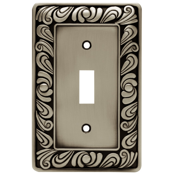 Decorative Wall Plate Switches : Brainerd paisley single switch wall plate