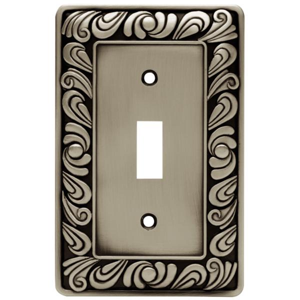 Brainerd 64048 paisley single switch wall plate - Decorative switch wall plates ...