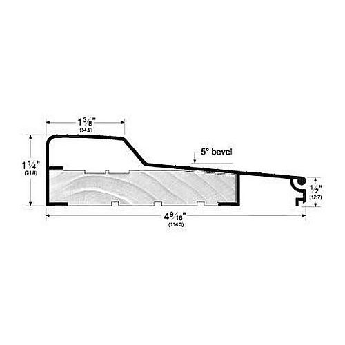 Pemko 84514A Residential All-Aluminum Fixed Sill, Mill Finish Aluminum