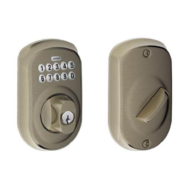 Schlage Be365 Ply 12287 10116 Keypad Deadbolt Satin
