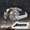 Arrow BM24 XG IC7 Storeroom Mortise Lock, Satin Chrome