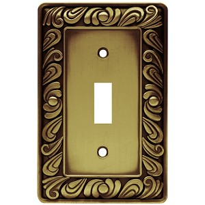 Brainerd 64049 Paisley Single Switch Wall Plate
