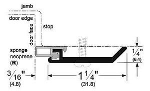 Pemko 315CR Pemko Standard Perimeter Gasketing, Clear