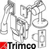 "Trimco 3920-8A 8"" Long with Angle Strike, Dark Oxidized"
