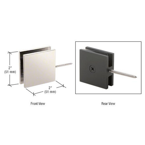 CRL SGC186PN Square Wall Mount Movable Transom Clamp