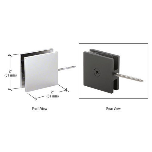 CRL SGC186SC Square Wall Mount Movable Transom Clamp