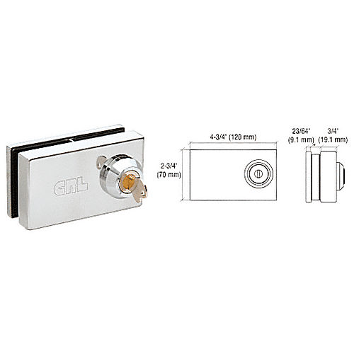 CRL 01P12 Deluxe Patch Lock for 1/2