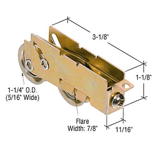 Crl D1880 Tandem Ball Bearing Sliding Glass Door Roller