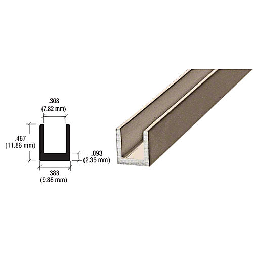 CRL D631BN Single Channel, Brushed Nickel