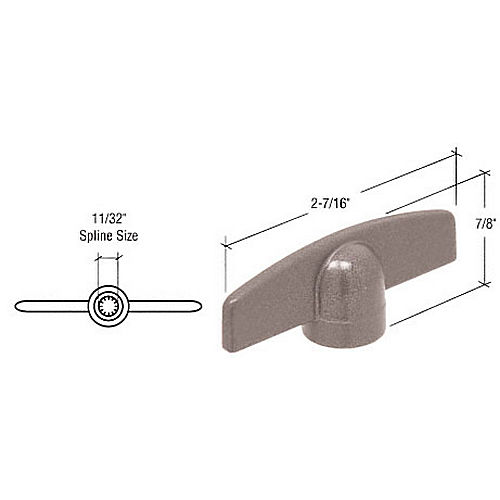 CRL EP24036Clay T-Crank Handle with 11/32