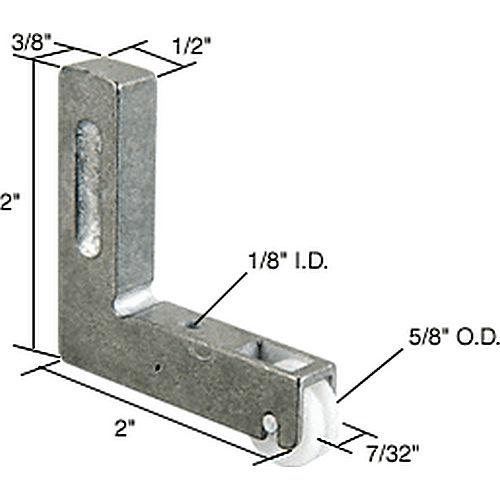 CRL G3021 Sliding Window Corner Insert and Roller for Trimview Windows