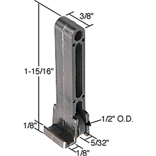 CRL G3085 Sliding Window Roller 1/8