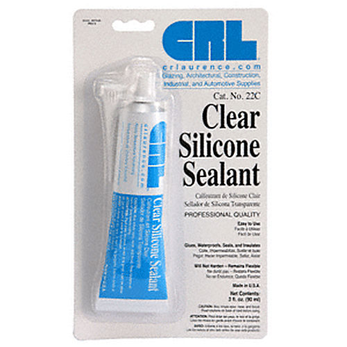 CRL 22C Silicone Sealant 3 Fluid Ounce Squeeze Tube