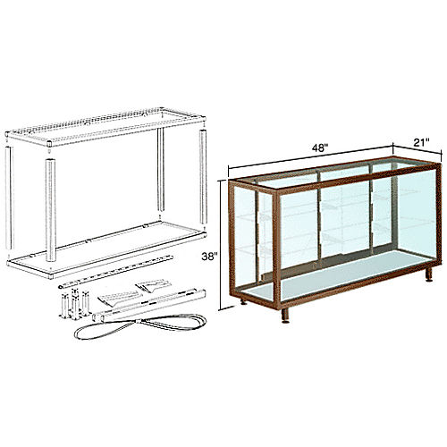 CRL D6304DU Deluxe Packaged Showcase Assembly 4', Duranodic Bronze