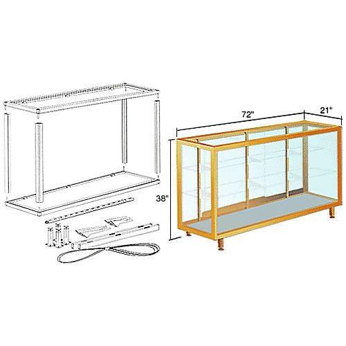CRL D6306GA Deluxe Packaged Showcase Assembly, Gold Anodized