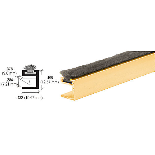 CRL D632GA Dust Proof Wiper, Gold Anodized