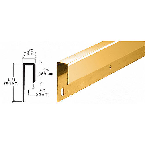 CRL D645BGA Nose J Channel, Brite Gold Anodized