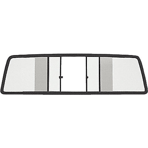 CRL TSW910B Duo-Vent Four Panel Sliders for 1986-1996 Dodge Dakota Extended Cab