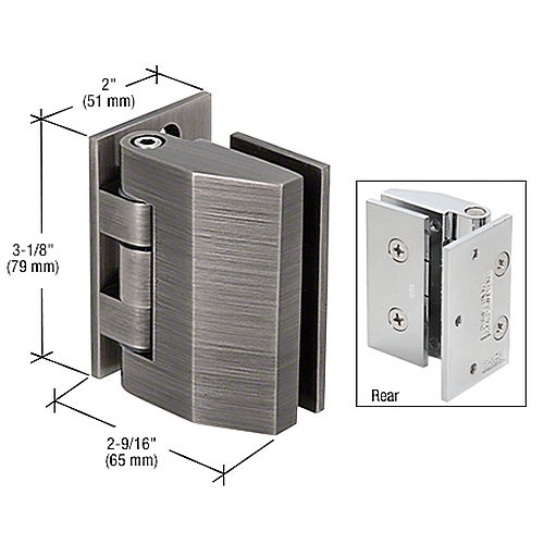 CRL REG037ABN Regal Series Adjustable Wall Mount Hinges
