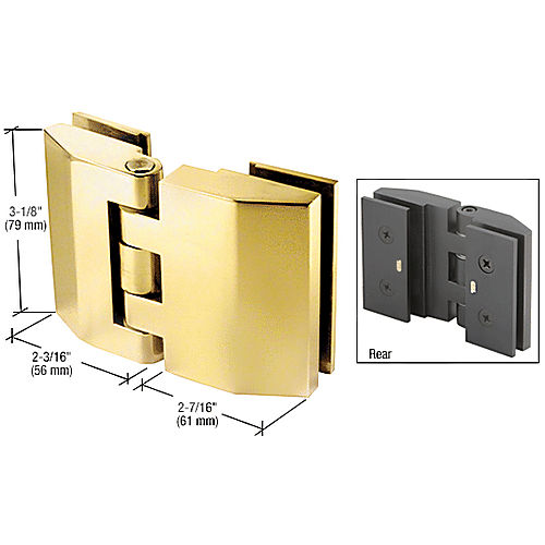 CRL REG180SB Regal Series Glass-to-Glass Mount Hinges
