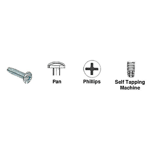 CRL 1024X158PHPTS Pan Head Phillips Self-Tapping Machine Screws