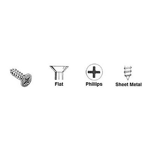 CRL 10X34FHPUCSMS Undercut Flat Head Phillips Sheet Metal Screws