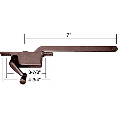 CRL 5257LHBRZ LH Square Series Casement Window Operator, Bronze