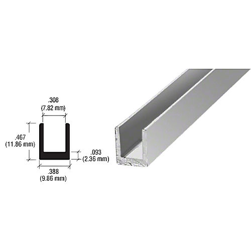CRL D631BA Single Channel, Brite Anodized