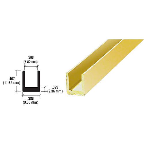 CRL D631BGA Single Channel, Brite Gold Anodized
