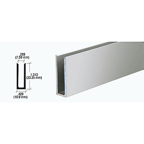 CRL D673BA U-Channel, Brite Anodized