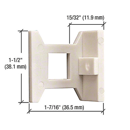 CRL DL2210EGExtended Hole Flush Bolt Guide