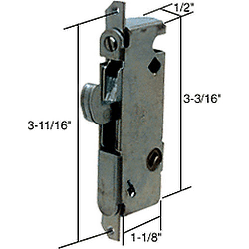 CRL E2014 Round End Face Plate Mortise Lock with 45 Degree Keyway for W&F Doors
