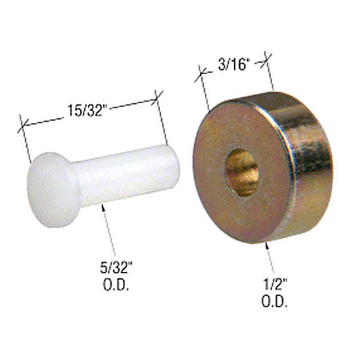 CRL G3060 Sliding Window Replacement Roller with Axle Pin for Premiere and Keller Windows
