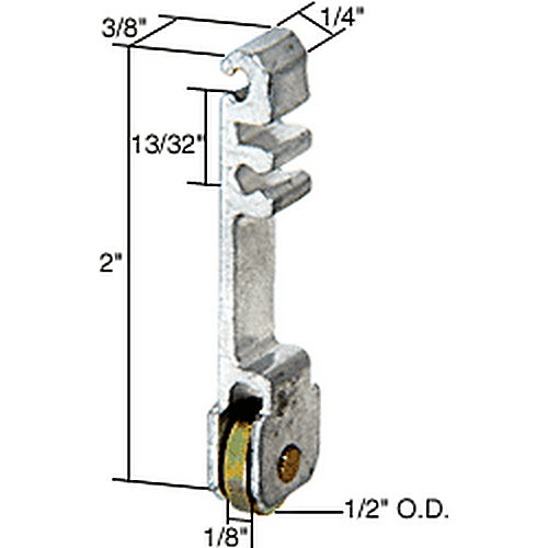 CRL G3102 Sliding Window Roller for International Windows