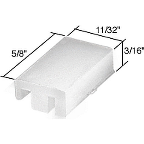 CRL G3103 Wide Sliding Window Top Guide for Alenco Windows