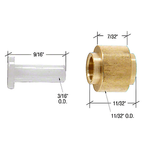 CRL G3116 Replacement Sliding Window Roller with Axle Pin for Viking Series M70 Windows
