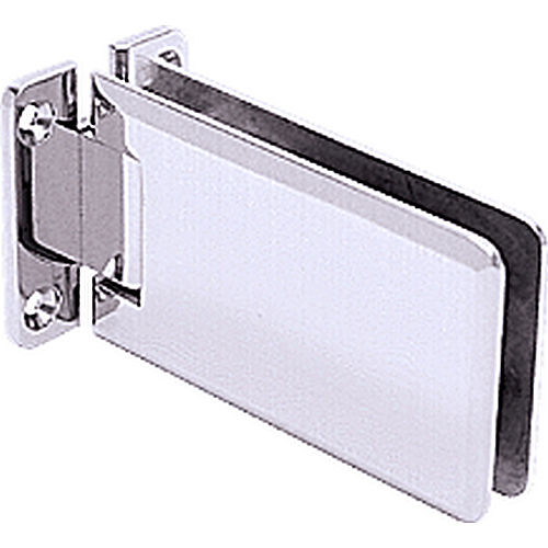 CRL GRA037CH Grande 37 Series Wall Mount Standard Back Plate Hinge, Chrome