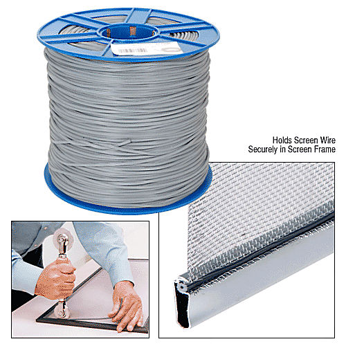 Crl Ss165b Gray Screen Retainer Spline Bulk 15 Lb Rolls