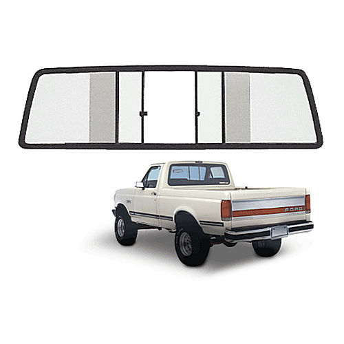 CRL TSW200B Four Panel Duo-Vent Sliders for 1967-1972 All Ford Cabs