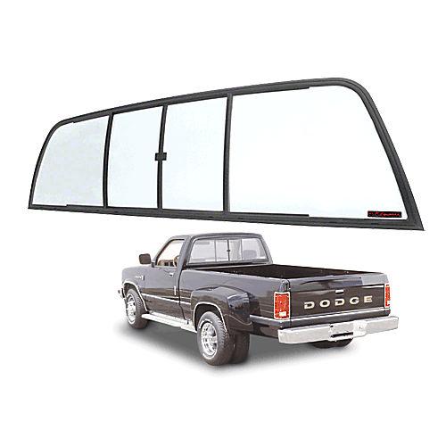 CRL TSW900B Duo-Vent Four Panel Sliders for 1975-1/2-1993 Dodge Ram Cabs